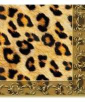 Vergelijk 40x dieren servetten luipaard print 3 laags prijs