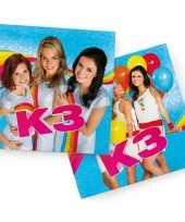 Vergelijk 40x k3 feest servetten blauw 33 x 33 cm kinderverjaardag prijs