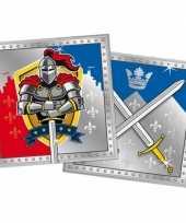 Vergelijk 40x ridder feest servetten 33 x 33 cm kinderverjaardag prijs
