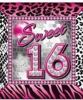 Vergelijk 40x sweet 16 servetten 25 x 25 cm geboortefeestje prijs
