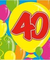 Vergelijk 40x veertig 40 jaar feest servetten balloons 25 x 25 cm verjaardag jubileum prijs
