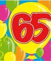 Vergelijk 40x vijfenzestig 65 jaar feest servetten balloons 25 x 25 cm verjaardag jubileum prijs