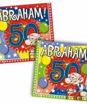Vergelijk 40x vijftig 50 jaar abraham feest servetten ballonnen 25 x 25 cm verjaardag jubileum prijs