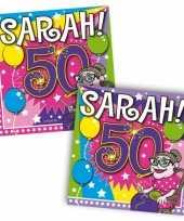 Vergelijk 40x vijftig 50 jaar sarah feest servetten ballonnen 25 x 25 cm verjaardag jubileum prijs