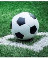 Vergelijk 40x voetbal thema feest servetten 33 x 33 cm prijs