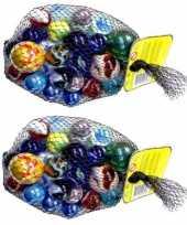 Vergelijk 46x knikker bonken is 2 kilo knikkers prijs