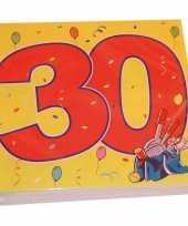 Vergelijk 48x dertig 30 jaar feest servetten confetti 33 x 33 cm verjaardag jubileum prijs
