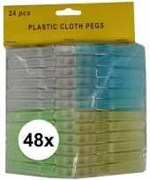 Vergelijk 48x kunststof wasgoedknijpers 8 cm prijs 10148246