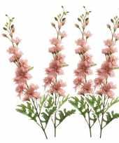 Vergelijk 4x delphinium kunst tak 70 cm roze prijs