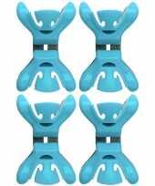 Vergelijk 4x feestversiering ophangen klemmen blauw prijs