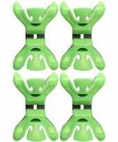 Vergelijk 4x feestversiering ophangen klemmen groen prijs
