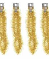 Vergelijk 4x gouden folieslingers fijn 180 cm prijs