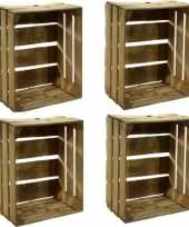 Vergelijk 4x houten fruitkistje 30 x 50 x 40 cm prijs