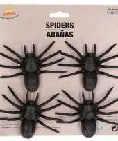Vergelijk 4x plastic horror spinnen 10 cm halloween decoratie prijs