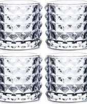 Vergelijk 4x waxinelichthouders lichtblauw glas lyon 10 cm prijs