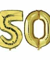 Vergelijk 50 jaar leeftijd helium folie ballonnen goud feestversiering prijs