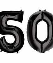 Vergelijk 50 jaar leeftijd helium folie ballonnen zwart feestversiering prijs