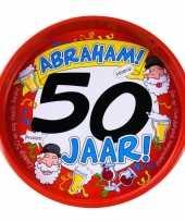 Vergelijk 50ste verjaardag abraham metalen dienblad 30 cm prijs