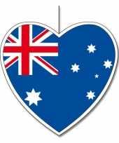 Vergelijk 5x australie hangdecoratie harten 14 cm prijs