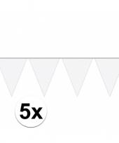 Vergelijk 5x carnaval vlaggenlijn wit 10 meter prijs