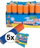 Vergelijk 5x foam waterspuit waterpistool 15 cm prijs