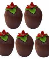 Vergelijk 5x hawaii bekers kokosnoot 250 ml prijs