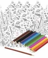Vergelijk 5x kroontjes om in te kleuren met potloden voor kinderen prijs