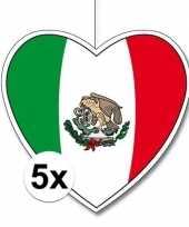 Vergelijk 5x mexico hangdecoratie harten 28 cm prijs