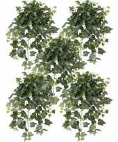 Vergelijk 5x nep planten groene hedera helix klimop weerbestendige kunstplanten 65 cm prijs