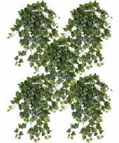 Vergelijk 5x nep planten groene witte hedera helix klimop weerbestendige kunstplanten 65 cm prijs