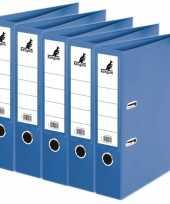 Vergelijk 5x ringmappen ordners blauw a4 75 mm prijs