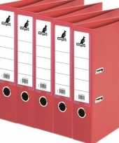 Vergelijk 5x ringmappen ordners rood a4 75 mm prijs