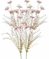 Vergelijk 5x roze papaver klaproosjes kunstbloemen takken 53 cm decoratie prijs