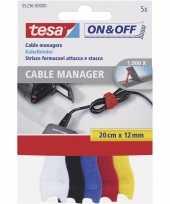 Vergelijk 5x tesa kabelklittenband 20 cm gekleurd prijs