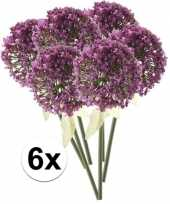 Vergelijk 6 x kunstbloemen steelbloem roze paarse sierui 70 cm prijs