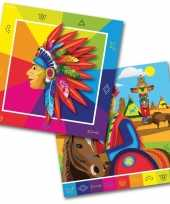 Vergelijk 60x indianen feest servetten 33 x 33 cm kinderverjaardag prijs