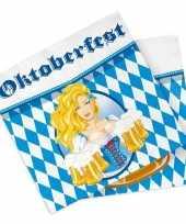 Vergelijk 60x oktoberfest bierfeest feest servetten blauw 33 x 33 cm prijs