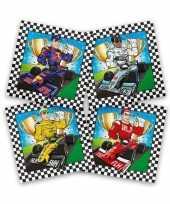 Vergelijk 60x race formule 1 feest servetten gekleurd 33 x 33 cm kinderverjaardag prijs