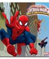 Vergelijk 60x spiderman warrior feest servetten 33 x 33 cm kinderverjaardag prijs