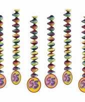 Vergelijk 65 jaar feest versiering spiralen prijs 10153319