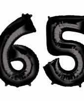 Vergelijk 65 jaar leeftijd helium folie ballonnen zwart feestversiering prijs