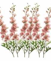 Vergelijk 6x delphinium kunst tak 70 cm roze prijs