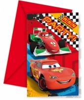 Vergelijk 6x disney cars uitnodigingen kinderverjaardag prijs