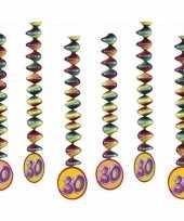 Vergelijk 6x feestartikelen 30 jaar spiraal prijs