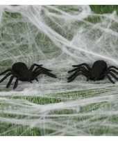 Vergelijk 6x horror spinnen 10 cm halloween decoratie prijs