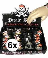Vergelijk 6x kinder armbandjes piraten thema prijs