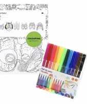 Vergelijk 6x maskers om in te kleuren met stiften voor kinderen prijs