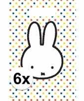 Vergelijk 6x nijntje versiering eten uitdeelzakjes snoepzakjes 30 x 21 cm kinderverjaardag prijs