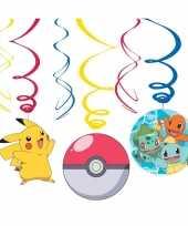 Vergelijk 6x pokemon feest hangdecoratie rotorspiralen prijs