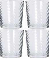 Vergelijk 6x sap water glazen 250 ml prijs